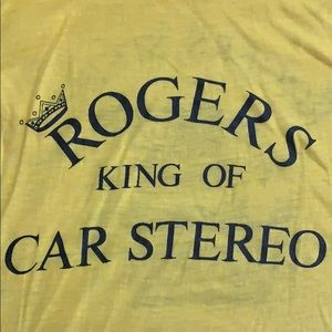 "Vintage Yellow ""Stereo"" Tee"